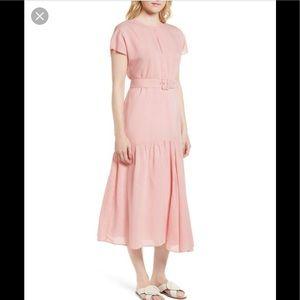 NWT Nordstrom Signature Striped Short Sleeve Dress